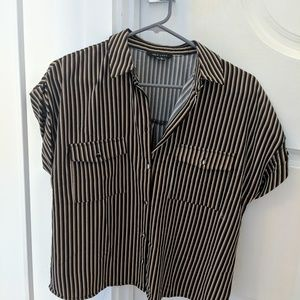 Never worn New Look striped button-down